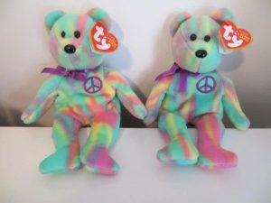 15-inch Peace bear and 9-inch Peace, Ringo and Bones