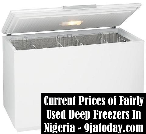 Prices of Fairly Used Deep Freezers